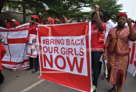 Bring Back Our Girls Protesters in Abuja Nigeria